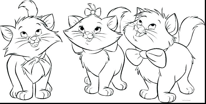 700x355 Kitty Cat Coloring Pages
