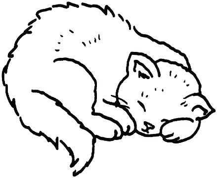 439x360 Cat Coloring Book Pages And Printable Realistic Cat Coloring Pages