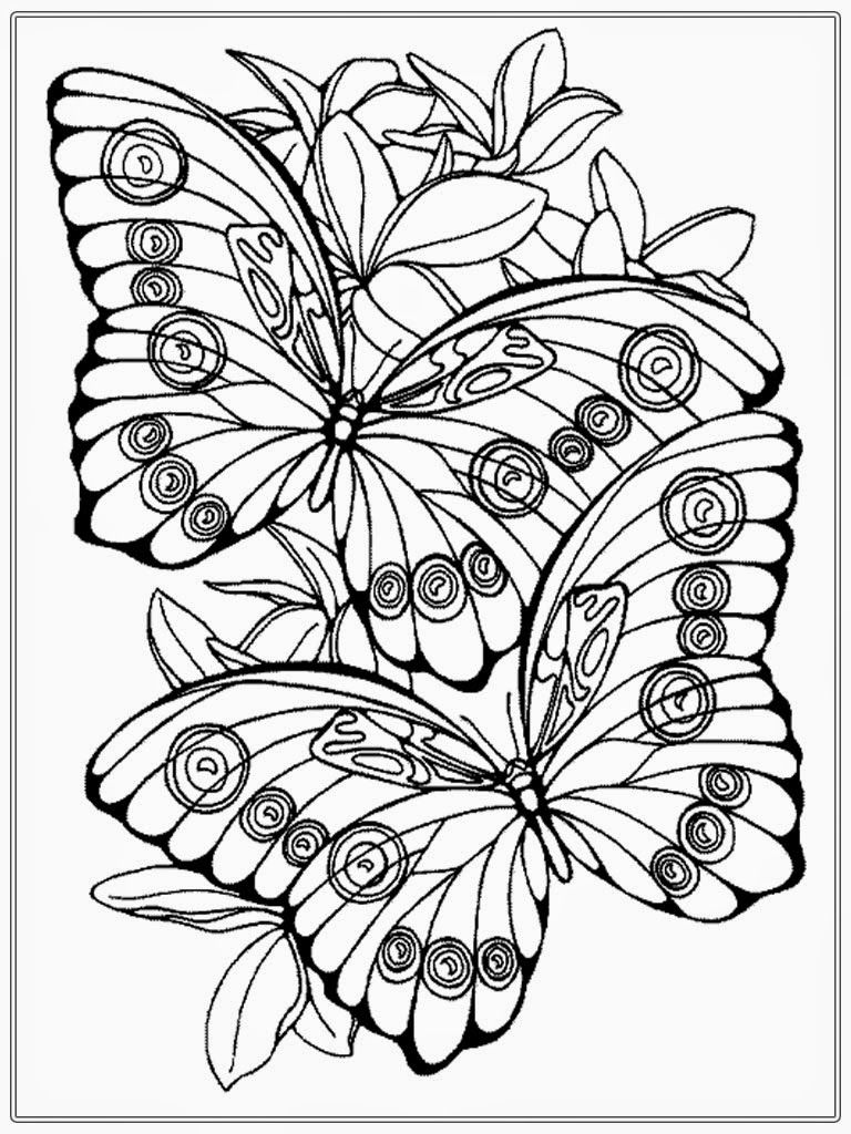 768x1024 Adult Color Pages Adult Coloring Pages Butterfly Realistic