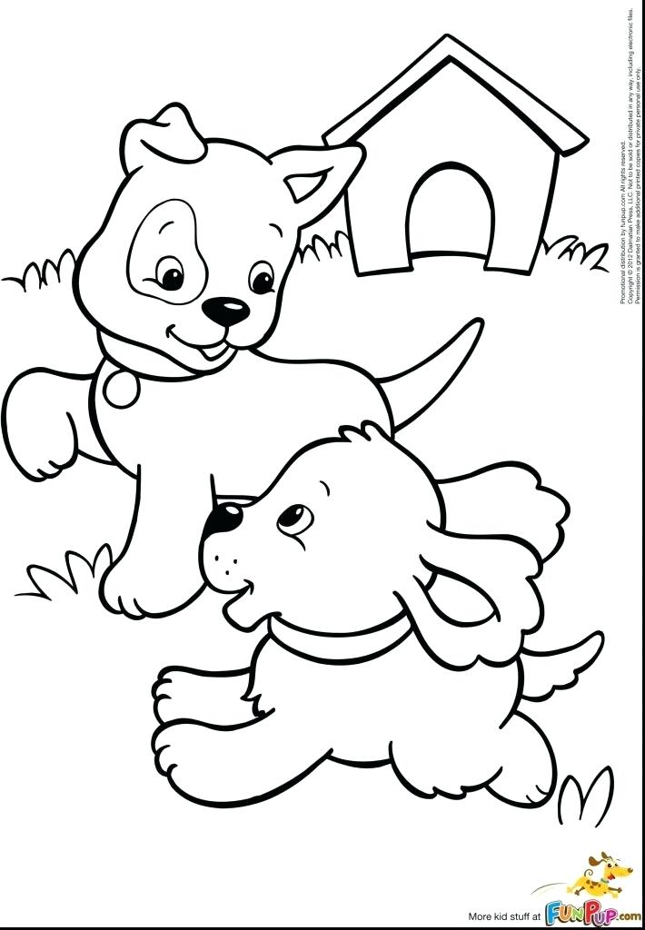 710x1024 Free Printable Cat And Dog Coloring Pages Happy Dog Coloring Page