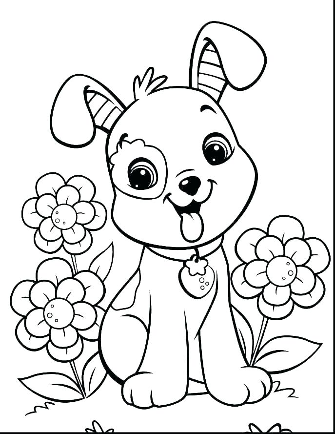 687x889 Realistic Dog Coloring Pages Coloring Pages Dog Cat And Dog