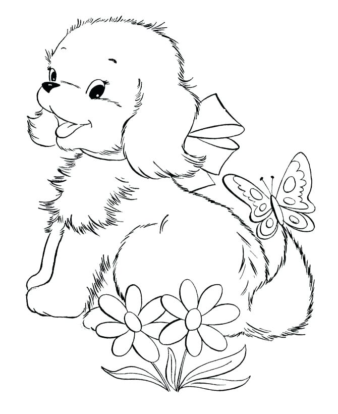 670x820 Realistic Dog Coloring Sheets Printable Pages For Kids