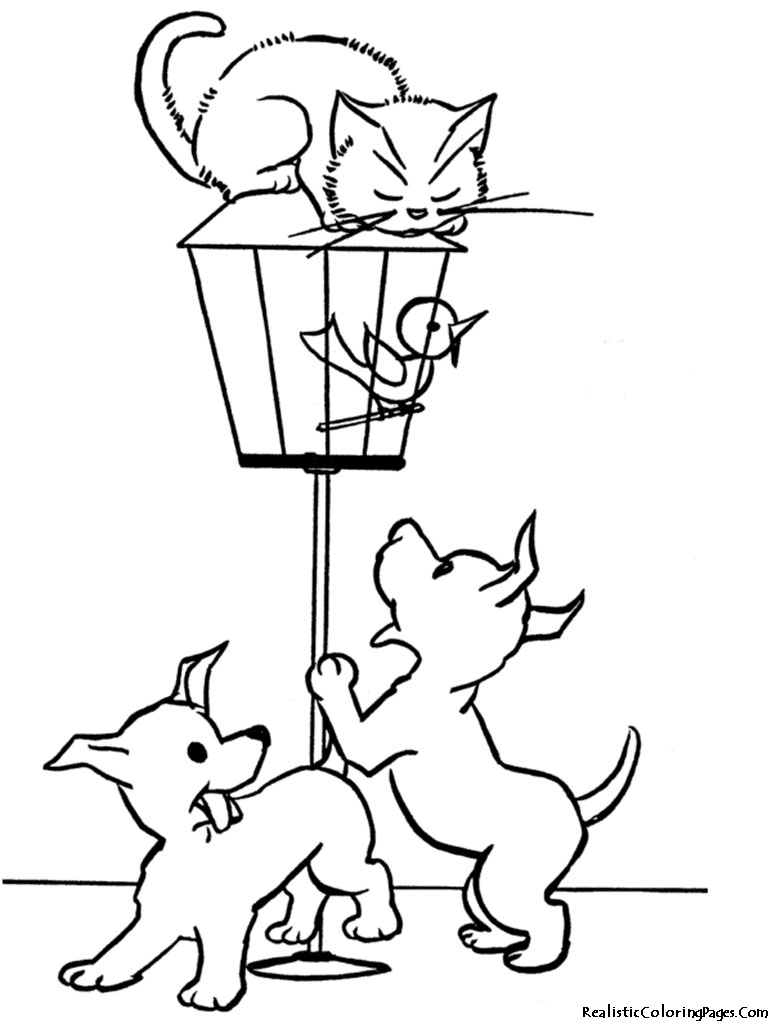 768x1024 Printable Coloring Pictures Of Dogs And Cats Animals Cartoons Cat