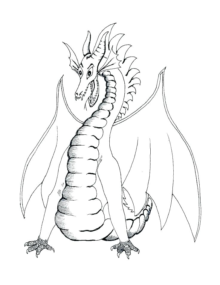 736x952 Coloring Pictures Dragons Realistic Dragon Coloring Pages Dragon