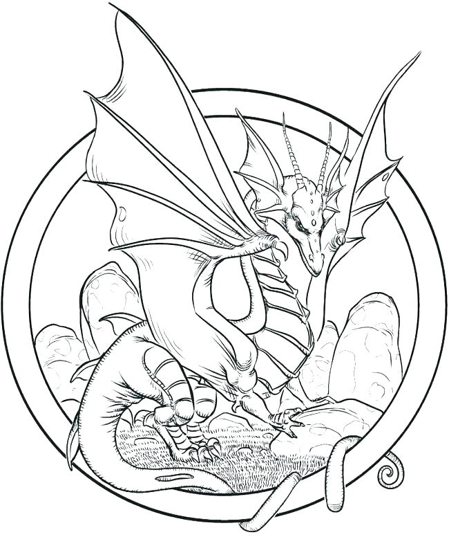 650x776 Dragon Coloring Page Detailed Dragon Coloring Pages Realistic Fire