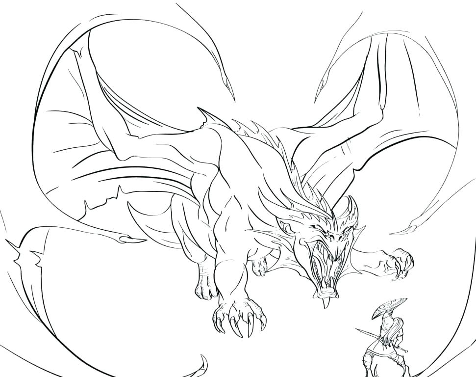 971x768 Dragon Coloring Page Dragon To Color Dragon Coloring Pages