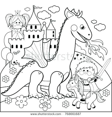 450x470 Dragon Coloring Pages Realistic Fire Breathing Dragon Coloring