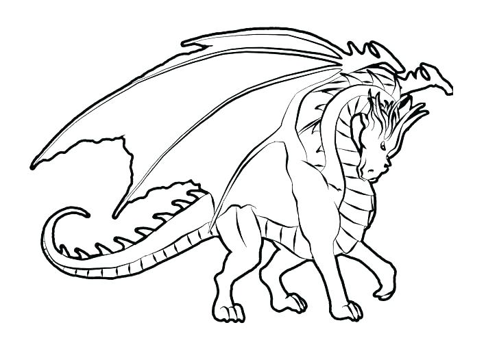 709x513 Dragon Coloring Sheets Free Dragon Coloring Pages Cool Dragons