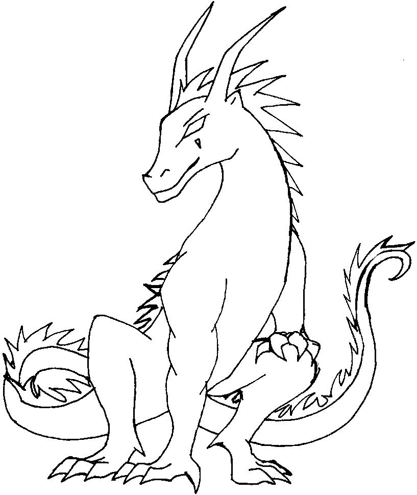817x969 Realistic Fire Dragon Coloring Pages
