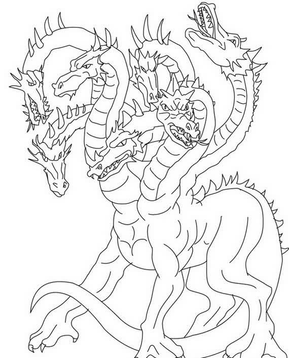 570x706 Realistic Dragon Coloring Pages
