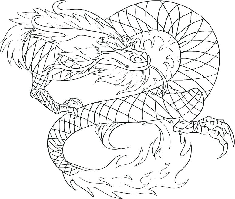 775x657 Awesome Dragon Coloring Pages Realistic Or Realistic Dragon