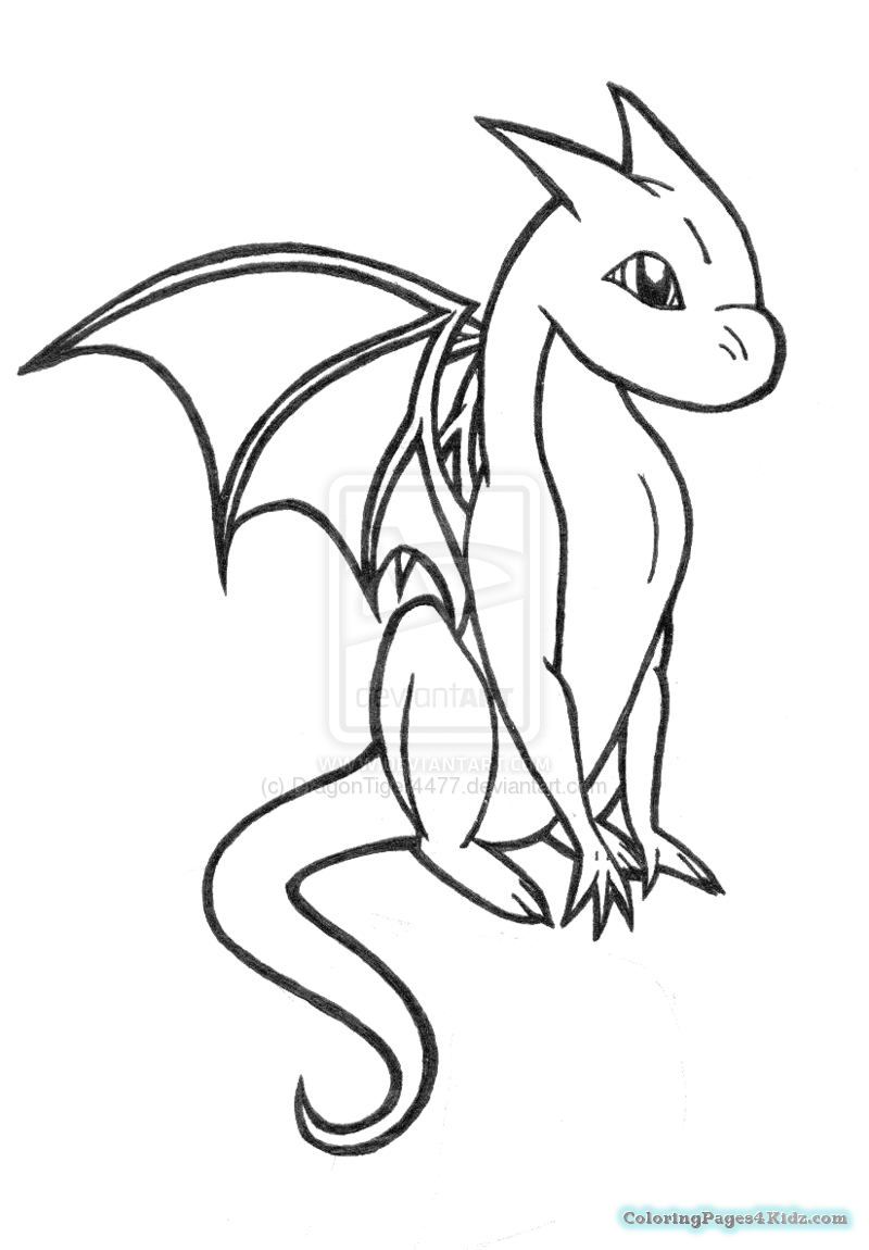 800x1150 Baby Dragon Coloring Pages Realistic For Kids Throughout