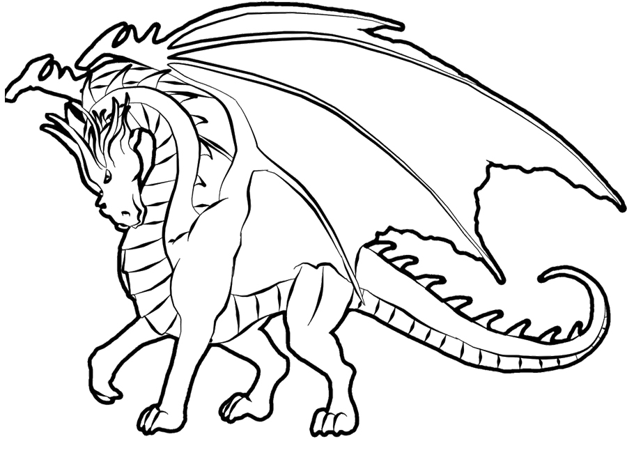 900x653 Best Free Printable Coloring Pages Realistic Dragons Free