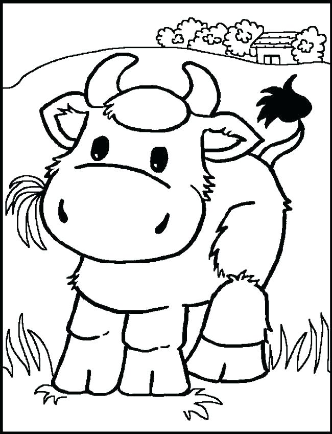 Realistic Cow Coloring Pages at GetDrawings | Free download