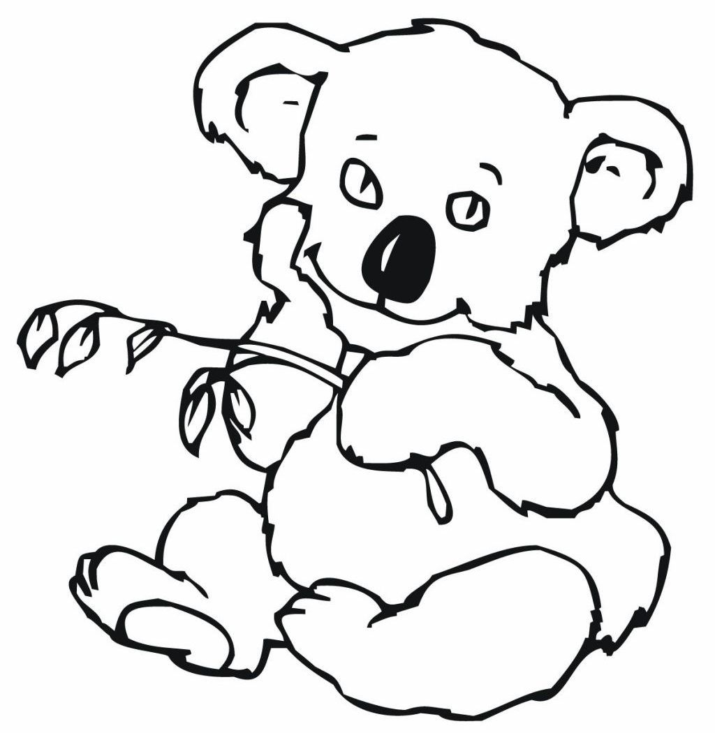 1024x1050 Awesome Cute Baby Koala Coloring Pages Printable Animals Realistic