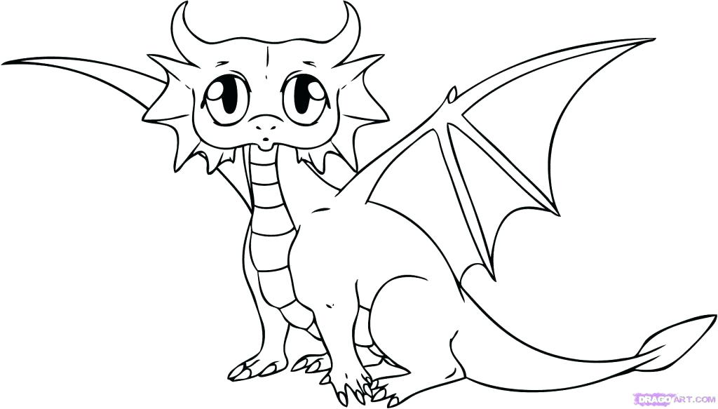 1024x583 Baby Animal Coloring Pages Baby Animal Coloring Pages Cute Dragon