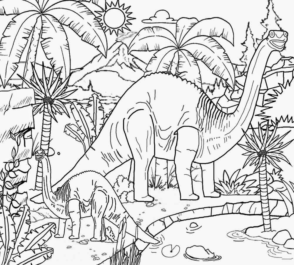 Realistic Dinosaurs Coloring Pages At Getdrawings Free Download