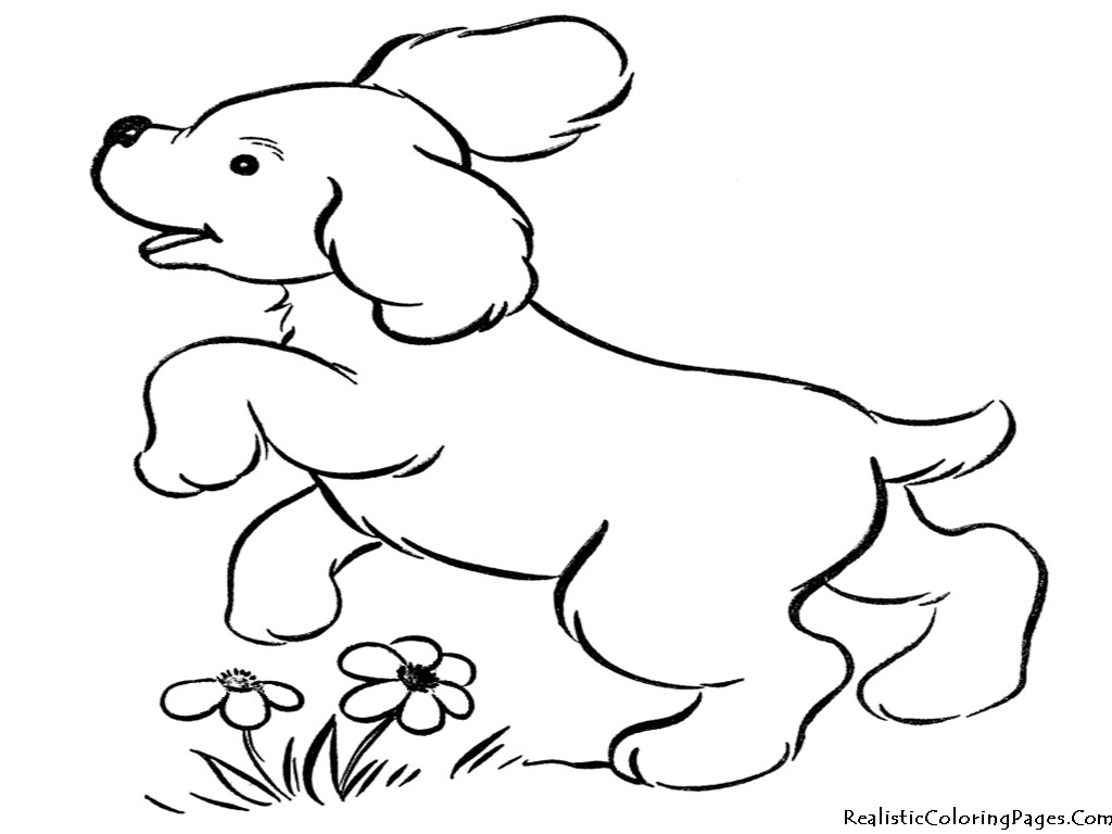 1024x768 Realistic Dog Coloring Pages Printable