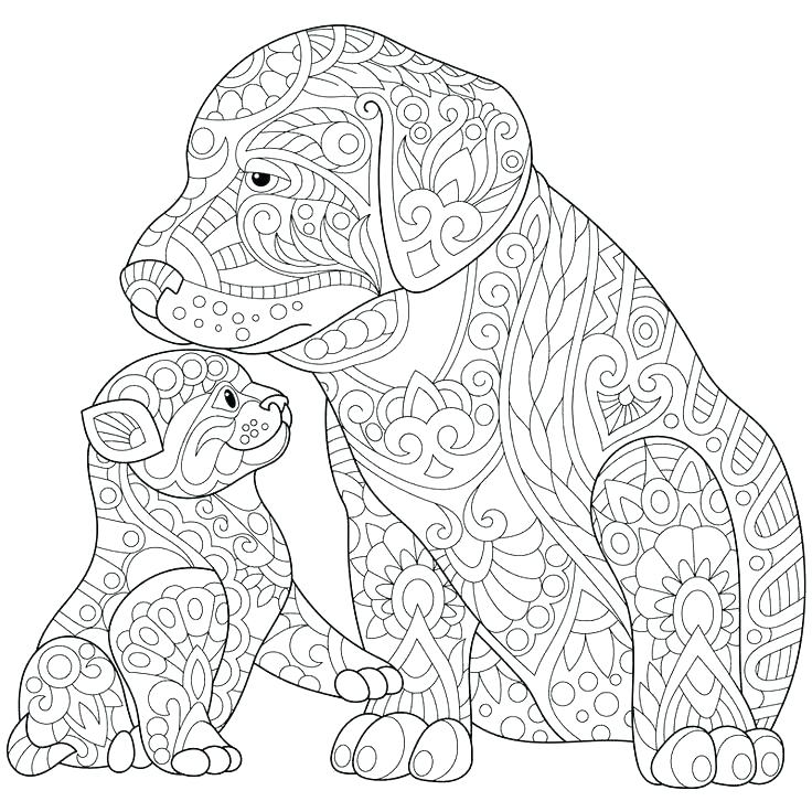 736x736 Coloring Pages Dogs Realistic Dog Coloring Pages Free Coloring