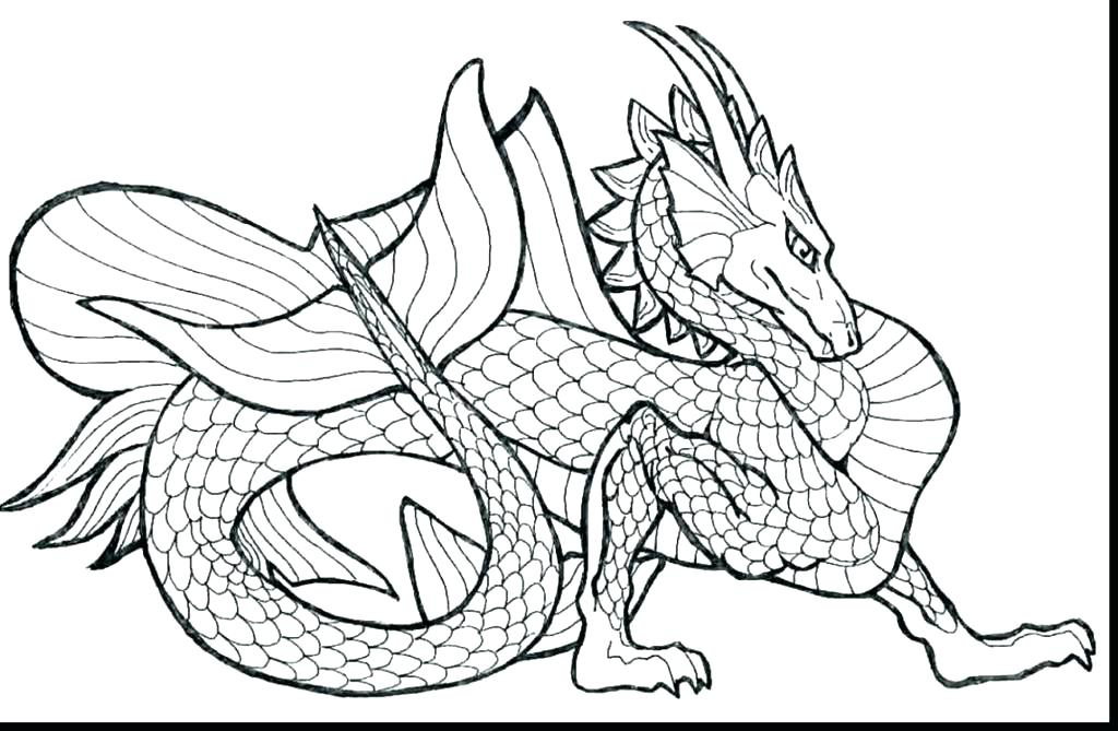Realistic Dragon Coloring Pages at GetDrawings | Free download