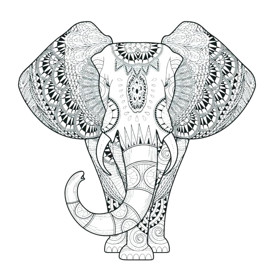 Realistic Elephant Coloring Pages at GetDrawings | Free ...