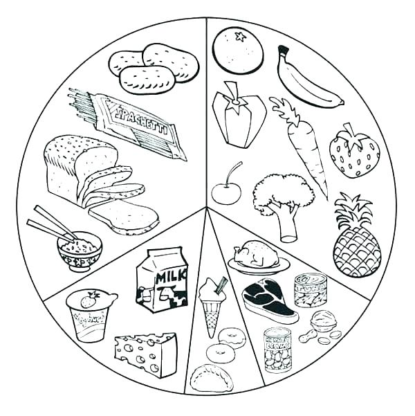 600x601 Food Coloring Pages To Print Cartoon Food Coloring Pages Awesome