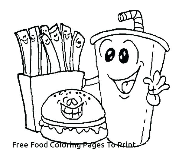592x536 Healthy Eating Coloring Pictures Food Coloring Sheets Food