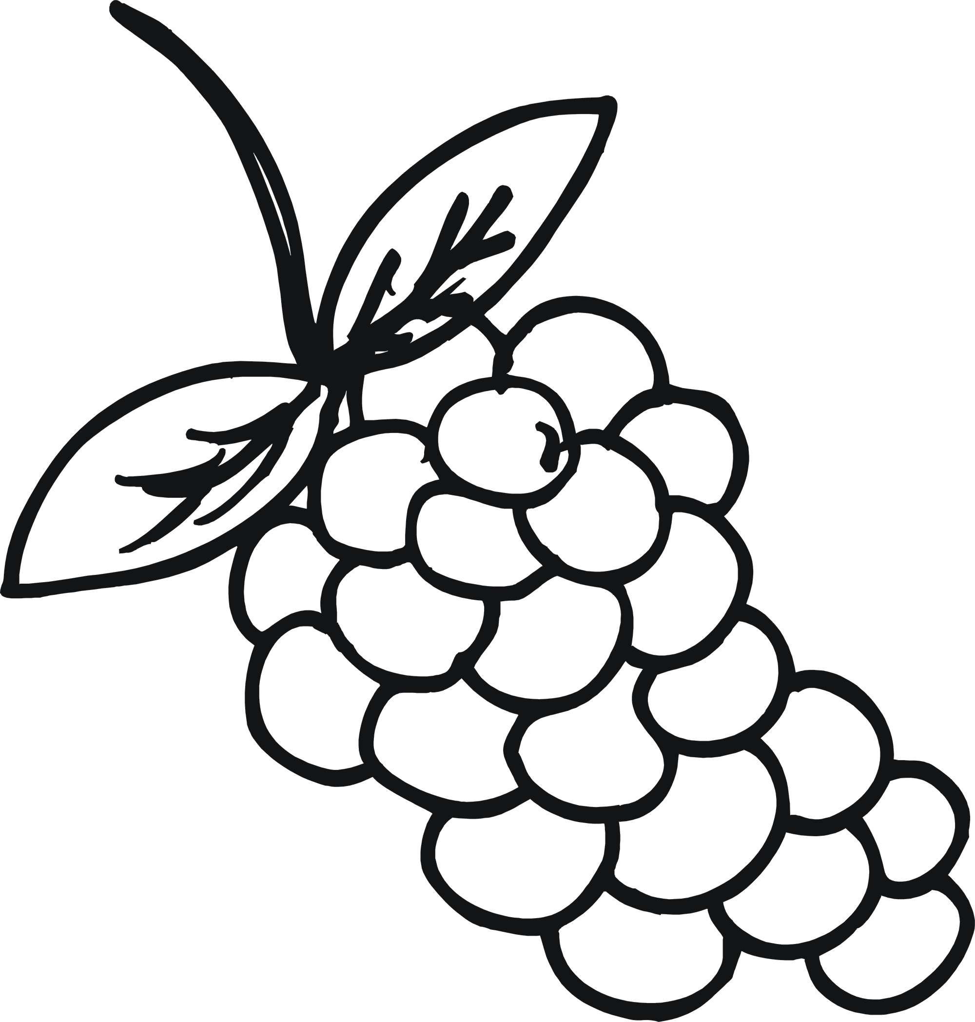 2000x2096 Shining Inspiration Food Coloring Pages Download Grapes Page