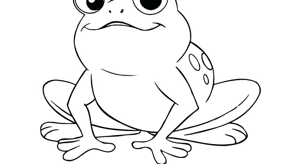 960x544 Realistic Frog Coloring Pages