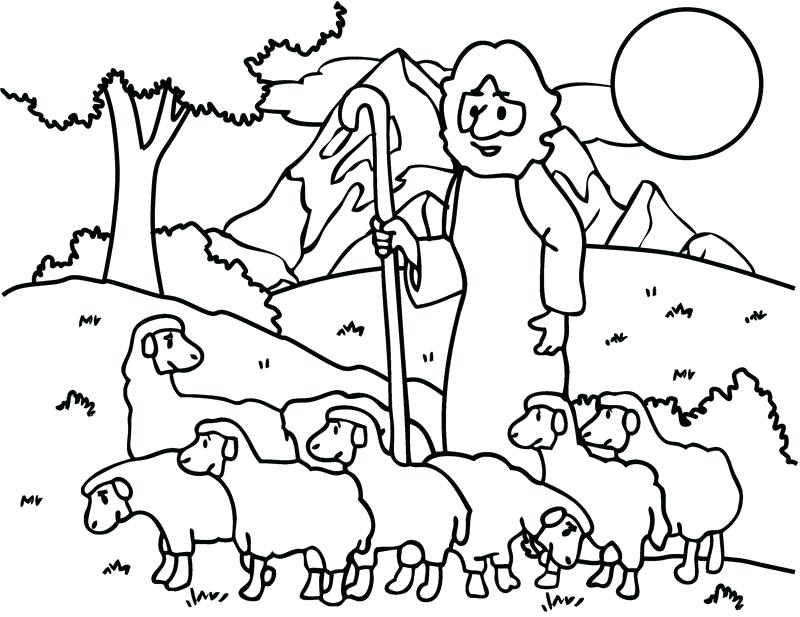 800x617 German Shepherd Coloring Pages Sheep And Shepherd Coloring Page