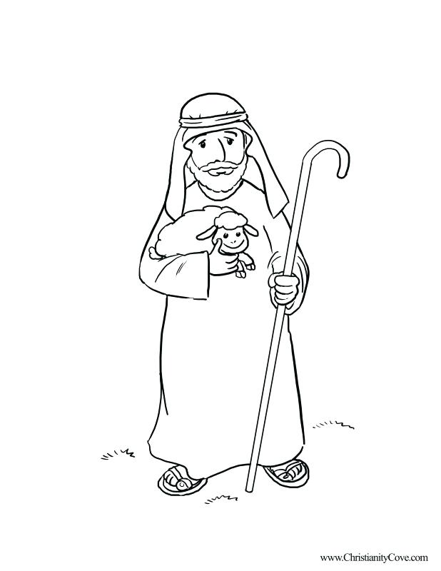 618x800 Shepherd Coloring Pages Bible Coloring Pages For School Realistic