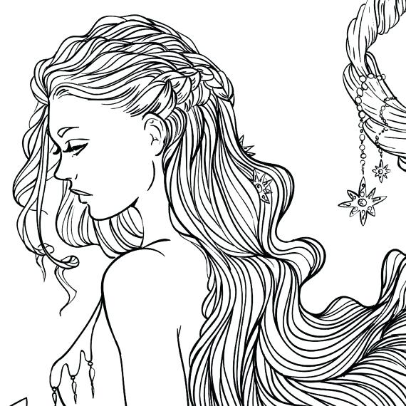 Realistic Girl Coloring Pages At GetDrawings Free Download