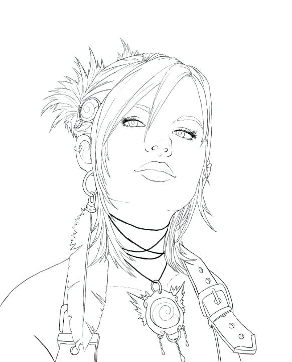 Realistic Girl Coloring Pages at GetDrawings | Free download
