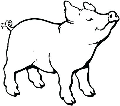 408x360 Coloring Page Of A Pig Printable Pig Coloring Pages Coloring Page