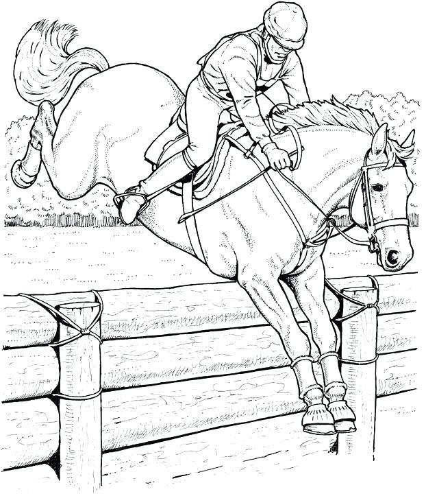 Realistic Horse Coloring Pages at GetDrawings.com | Free for ...