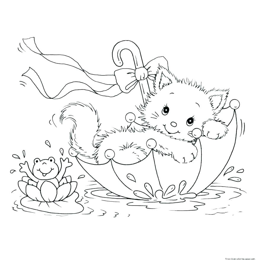 878x879 Cute Kitten Coloring Pages Kitten Color Pages Coloring Page Kitten