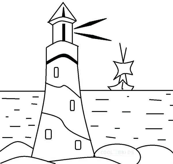 600x568 Lighthouse Coloring Pages For Kids Images Crafts Two Best Coloring