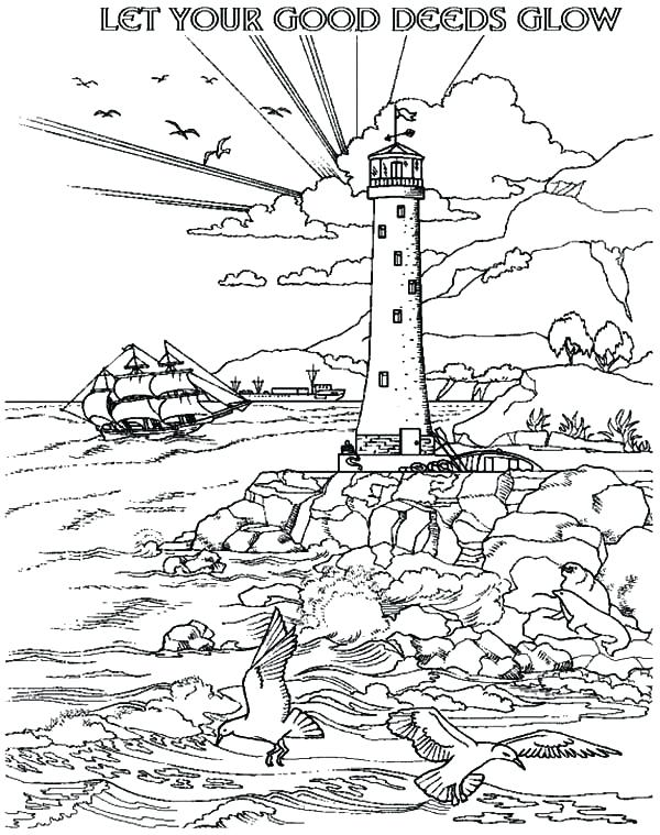 600x759 Lighthouse Coloring Pages Let Your Good Deeds Glow With Lighthouse
