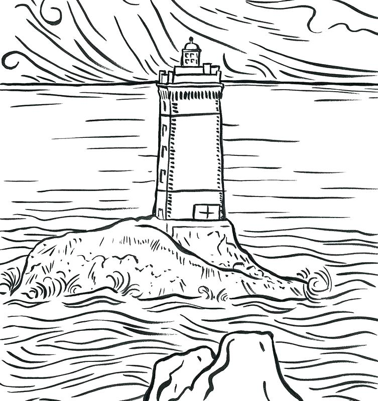 753x800 Lighthouse Coloring Pages Light House Color Page Kids Coloring