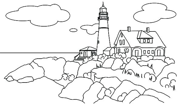 600x364 Lighthouse Coloring Pages Lighthouse Coloring Pages Coloring Pages