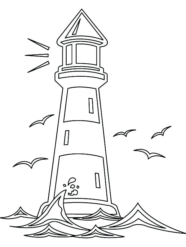 600x795 Lighthouse Coloring Pages Lighthouse Coloring Pages Elegant
