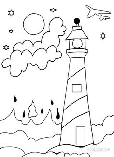 236x324 Lighthouse Coloring Pages To Print Picture