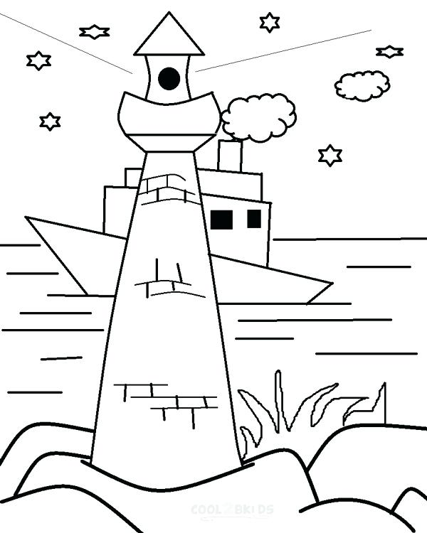 600x750 Lighthouse Coloring Pages Traffic Light Coloring Page Coloring