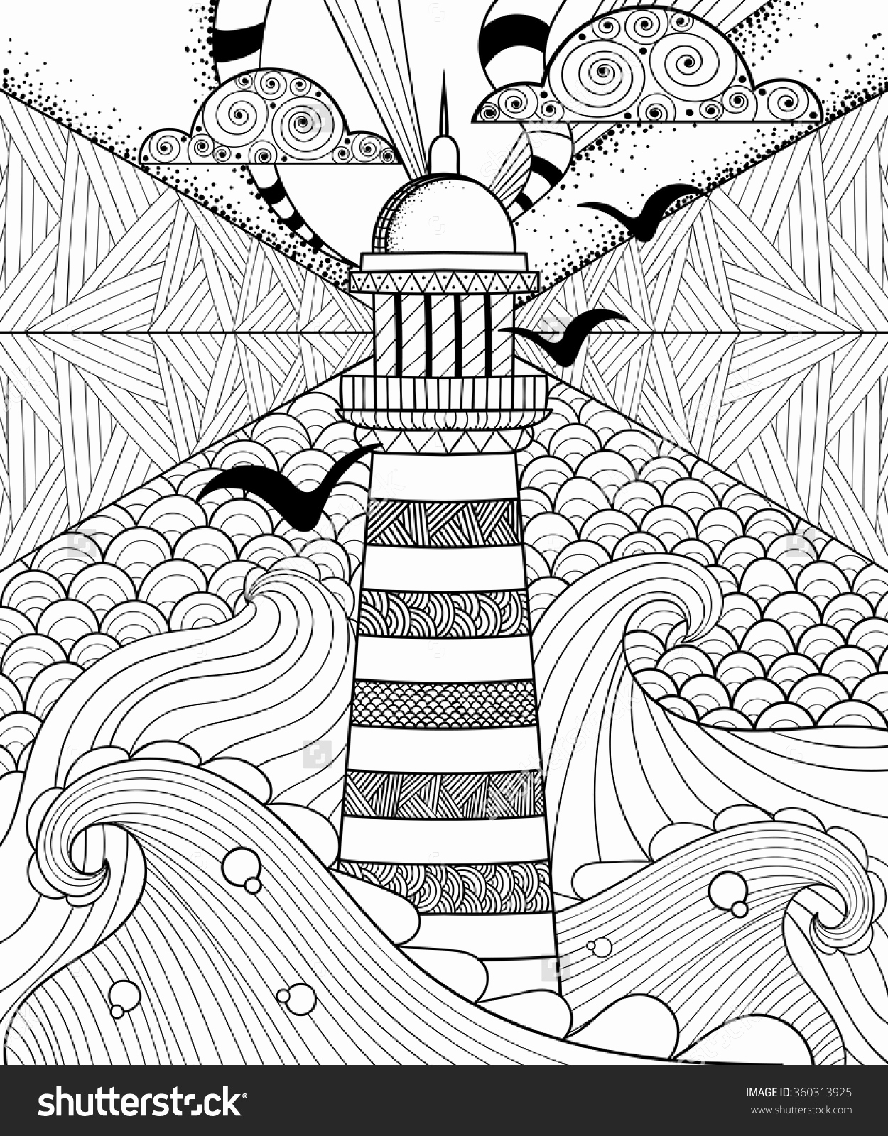1250x1600 Elegant Pictures Of Lighthouse Coloring Pages