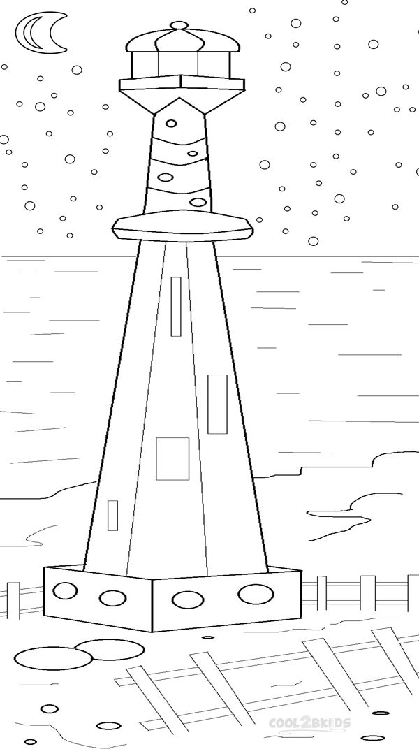 600x1072 Printable Lighthouse Coloring Pages For Kids