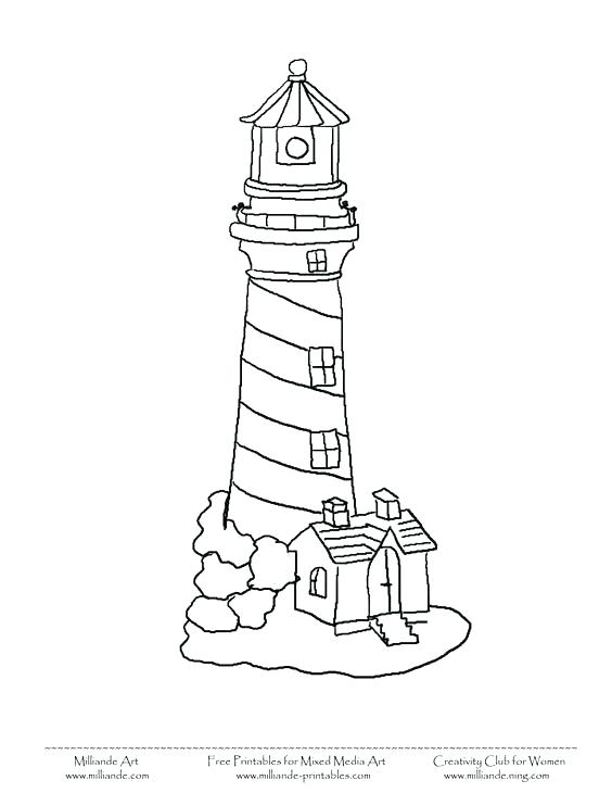564x730 Lighthouse Coloring Pages