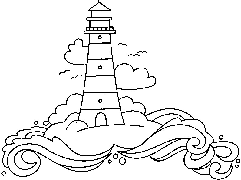796x594 Lighthouse Coloring Book Pages