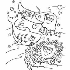 Realistic Ocean Coloring Pages