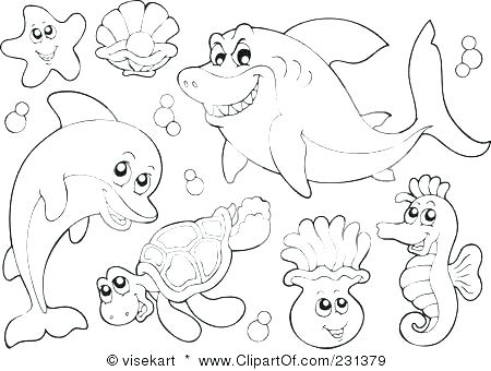 450x340 Ocean Life Coloring Pages Sea Life Coloring Pages Fancy Sea Life