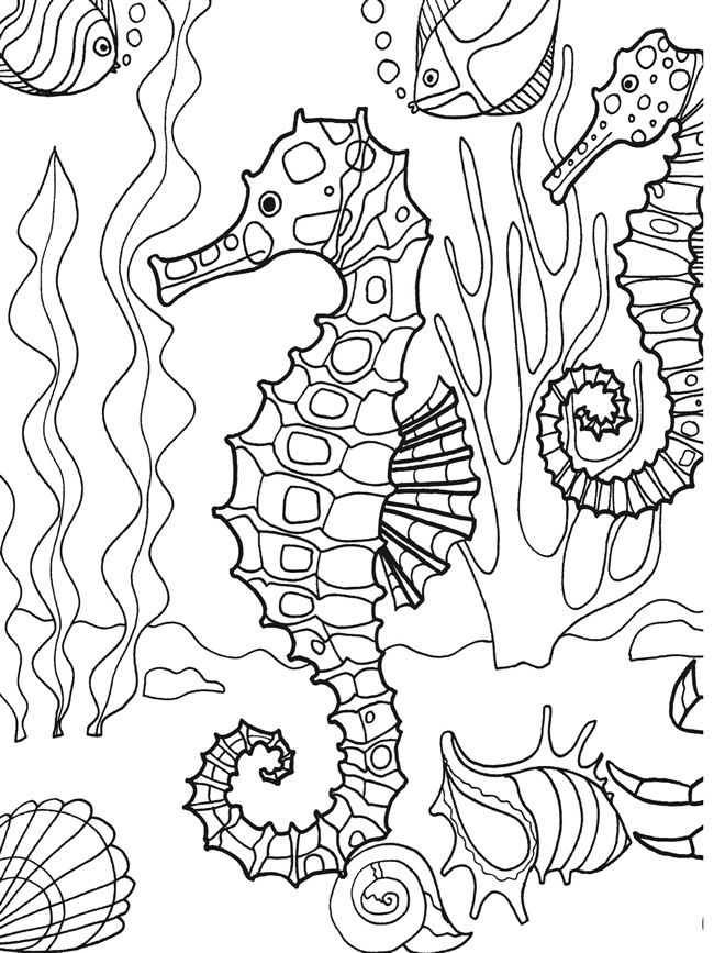 Realistic Ocean Coloring Pages At Getdrawings Com Free For